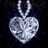 Diamond heart.  illustration Royalty Free Stock Photos