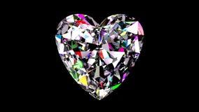 Diamond Heart iridiscente colocado ilustración del vector