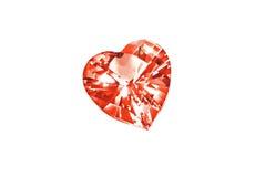 Diamond heart isolated on white background. Heart shaped diamond isolated on white background stock image