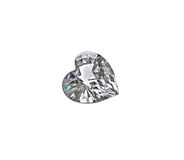 Diamond heart isolated on white background. Heart shaped diamond isolated on white background royalty free stock photography