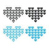 Diamond heart, luxury  icons set Royalty Free Stock Images