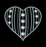 Diamond Heart Stock Photography