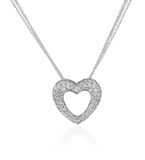Diamond heart necklace. Royalty Free Stock Photo