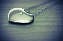 Diamond heart necklace Stock Photo