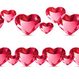 Diamond heart pattern Royalty Free Stock Photo