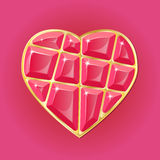 Diamond heart on pink background. Beauty diamond heart on red background. RGB EPS 10  illustration Royalty Free Stock Photos
