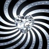 Diamond Heart Ray 1 Stock Image