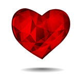Diamond heart Royalty Free Stock Image