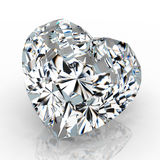 Diamond heart shape Royalty Free Stock Image