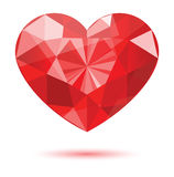 Diamond heart shape Royalty Free Stock Photos