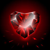 Diamond heart shape Stock Photo