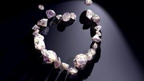 Diamond heart stock video