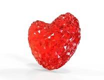 Diamond heart shape Stock Image