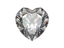 Diamond heart shape osolated on white Stock Photography