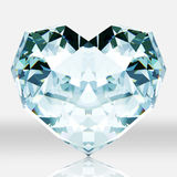 Diamond heart shape  on white background. Picture of diamond is create by 3d program Stock Photo