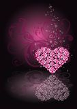 Diamond heart, vector Stock Photography