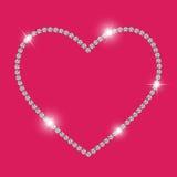 Diamond Heart Vetora Illustration luxuoso abstrato Imagem de Stock Royalty Free