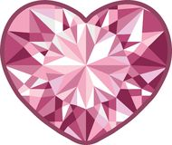 Diamond heart on a white background.  illustration Stock Image