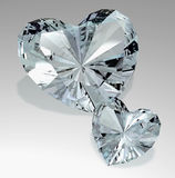 Diamond hearts Stock Images