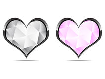 Diamond hearts. Two diamond hearts vector illustration Stock Illustration
