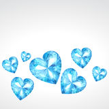 Diamond hearts. Vector diamond hearts background illustration Royalty Free Illustration