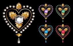 Diamond hearts love. Illustration of a diamond hearts. Vector file available Vector Illustration