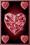 Diamond hearts poker card, vector Stock Photo