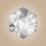 Diamond hexagon shape Stock Image