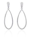 Diamond hoop earrings. Stock Photo