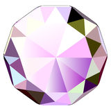 Diamond icon. Colorful illustration of diamond, jewel stone vector icon Stock Photography