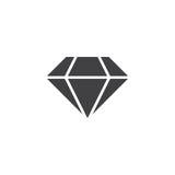 Diamond icon , brilliant solid logo illustration, pictogra. M isolated on white Royalty Free Stock Photos