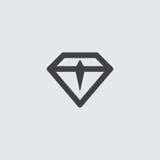 Diamond Icon dans une conception plate dans la couleur noire Illustration EPS10 de vecteur Photos stock