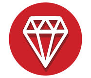 Diamond Icon Design Images libres de droits