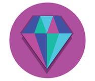 Diamond Icon Design Stock Photography
