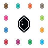 Diamond Icon isolato Immagine Stock Libera da Diritti