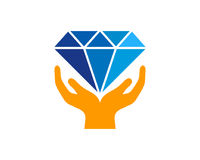 Diamond Icon Logo Design Element Image libre de droits