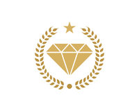 Diamond Icon Logo Design Element Photographie stock libre de droits