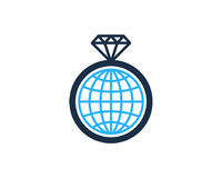 Diamond Icon Logo Design Element internazionale globale Fotografie Stock Libere da Diritti