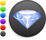Diamond icon on round internet button Royalty Free Stock Images