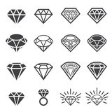 Diamond icon set Stock Image