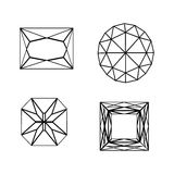 Diamond Icon Symbol Set Photographie stock