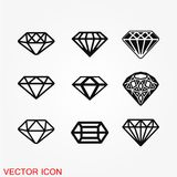 Diamond Icon Vector Image stock