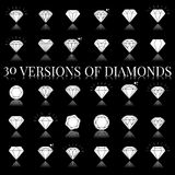 Diamond Icons Set Fotografia de Stock Royalty Free