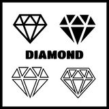 Diamond Icons Set Fotografie Stock