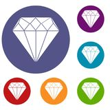 Diamond Icons Set illustration stock