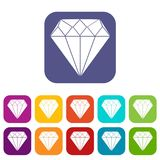 Diamond Icons Set Photos libres de droits