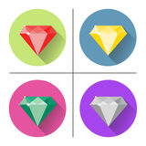 Diamond Icons Set Photo stock