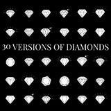 Diamond  icons set. 30 Diamond  icons set, design Royalty Free Stock Image