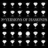 Diamond  icons set. 30 Diamond  icons set, design Royalty Free Stock Photography