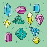 Diamond Icons Set Illustration tirée par la main illustration de vecteur